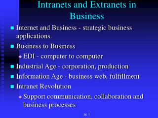 Intranets and Extranets in Business