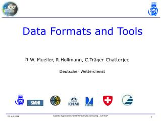 Data Formats and Tools