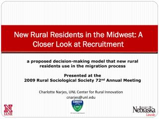New Rural Residents in the Midwest: A Closer Look at Recruitment