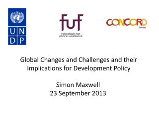 Global Changes and Challenges and their Implications for Development Policy