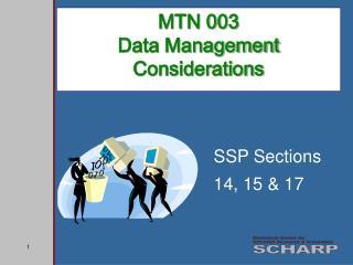 MTN 003  Data Management  Considerations