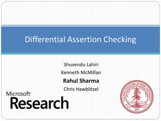 Differential Assertion Checking