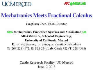Mechatronics Meets Fractional Calculus