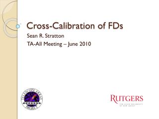 Cross-Calibration of FDs
