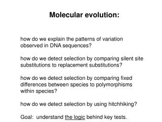 how do we explain the patterns of variation observed in DNA sequences?