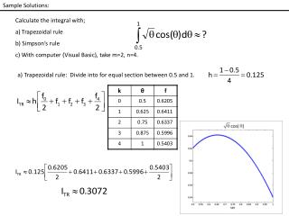Sample Solutions: