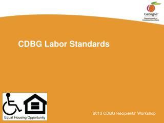 CDBG Labor Standards