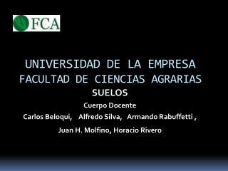 UNIVERSIDAD DE LA EMPRESA   FACULTAD DE CIENCIAS AGRARIAS