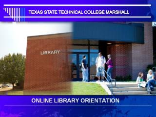 ONLINE LIBRARY ORIENTATION