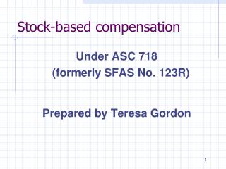 Stock-based compensation