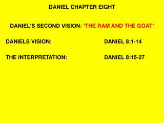 DANIEL CHAPTER EIGHT