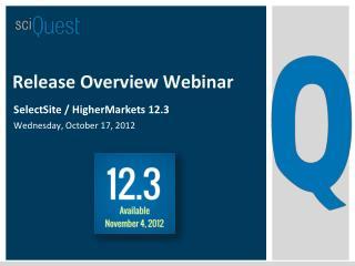Release Overview Webinar