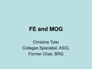 FE and MOG