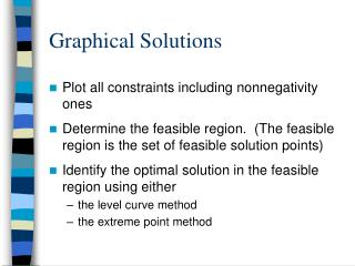 Graphical Solutions