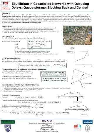 Equilibrium in Capacitated Networks with Queueing  D elays, Queue-storage, Blocking  B ack and Control