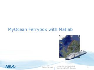 MyOcean  Ferrybox  with Matlab