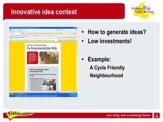 Innovative idea contest