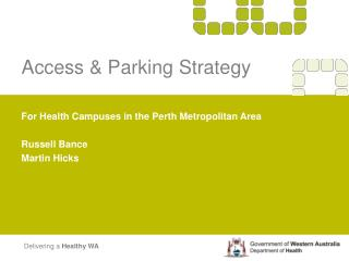 Access and Parking Strategy Roadshow Presentation PowerPoint ...