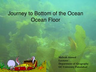 Journey to Bottom of the Ocean Ocean Floor