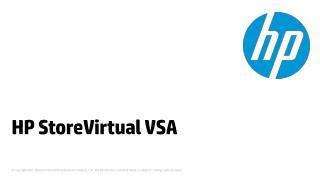 HP StoreVirtual VSA
