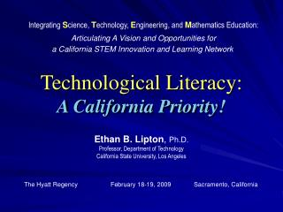 Technological Literacy: A California Priority!