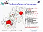 Fort Benning Ranges and Training Areas