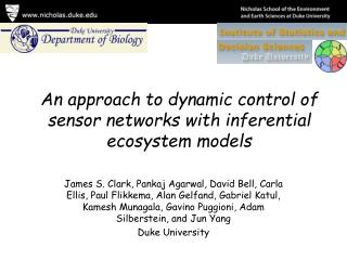 An approach to dynamic control of sensor networks with inferential ecosystem models