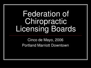 Federation of Chiropractic Licensing Boards