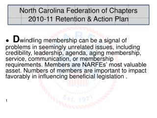 North Carolina Federation of Chapters 2010-11 Retention & Action Plan