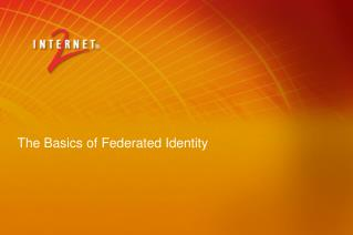 The Basics of Federated Identity