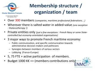 Membership  structure /  organization  / team