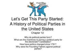 Let's Get This Party Started: A History of Political Parties in the United States Chapter 12