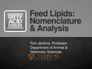 Tom Jenkins, Professor Department of Animal & Veterinary Sciences