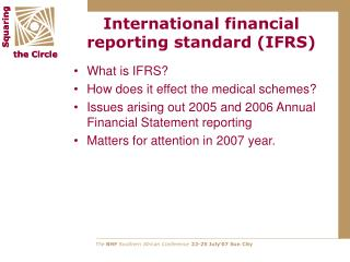 International financial reporting standard IFRS