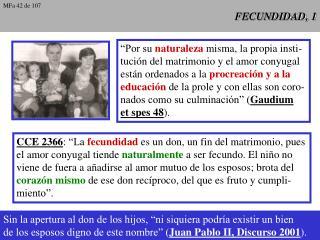 FECUNDIDAD, 1