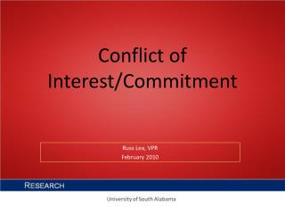 Conflict of Interest/Commitment