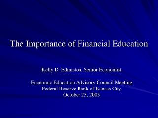 The Importance of Financial Education