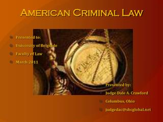 American Criminal Law