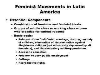 Feminist Movements in Latin America