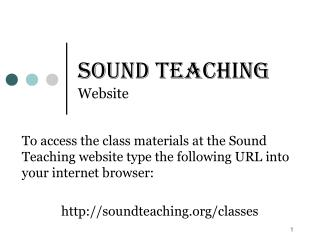 Sound Teaching Website