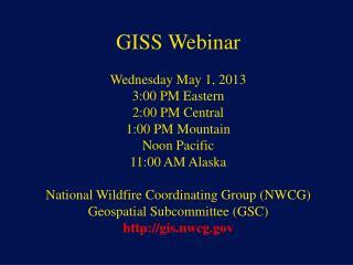 NWCG Geospatial Sub Committee