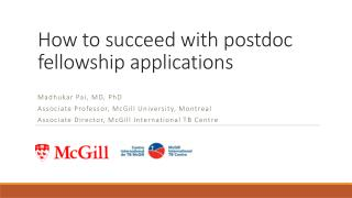 How to succeed with postdoc fellowship applications