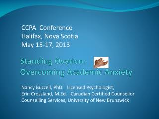 Standing Ovation: Overcoming Academic Anxiety