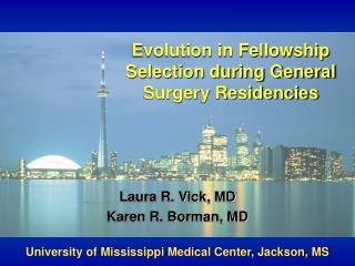 Evolution in Fellowship Selection during General Surgery Residencies