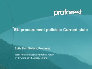 EU procurement policies: Current state