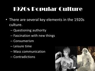 1920s Popular Culture