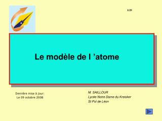 Le modèle de l'atome