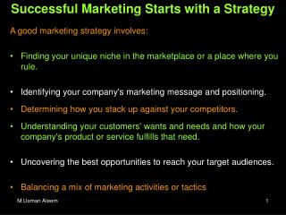 Successful Marketing Starts with a Strategy