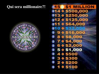 Qui sera millionaire?!