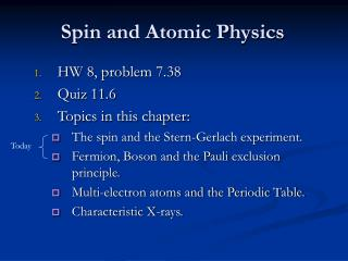 Spin and Atomic Physics